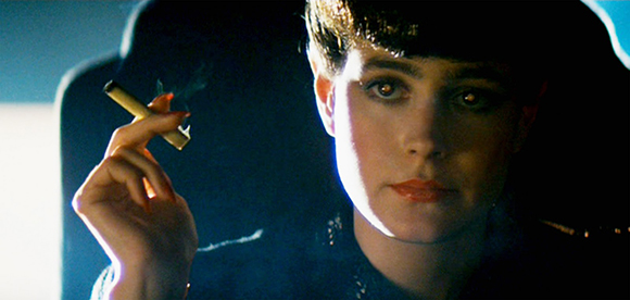Rachel from Blade Runner - Notice the slightly glowing eyes